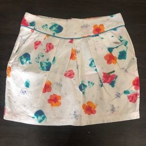 Lush floral skirt size small